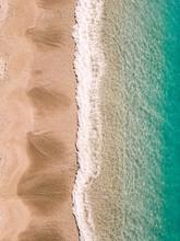 Positano Beach Drone View Lanscape Amalfi Coast