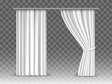 Vector White Curtains Isolated...