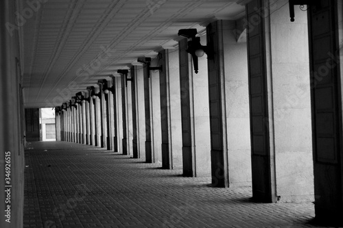 Canvas Print View Of Colonnade