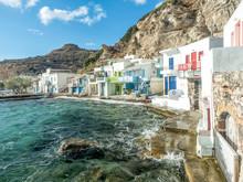 Texture Cracked Paint At Klima Fishing Village - Milos Island, Greece