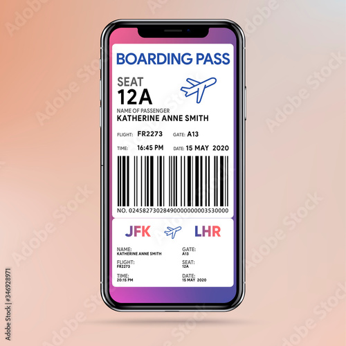 Mobile boarding pass Canvas Print