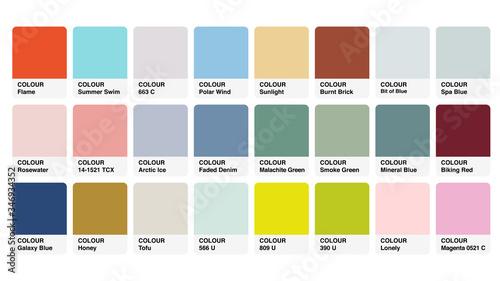 Valokuva Pantone Colour Palette Catalog Samples Vector in RGB
