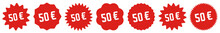 50 Price Tag Red | 50 Euro | S...