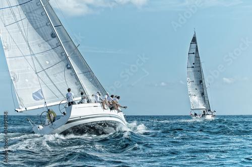 Sailing yacht regatta. Yachting. Sailing race © Alvov