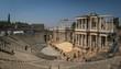teatro romano de merida ruins hot summer day
