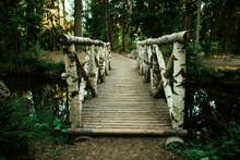 A Bridge Of Tree Logs Located ...
