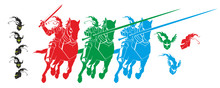 Vector Flat Set Of Knights Of ...