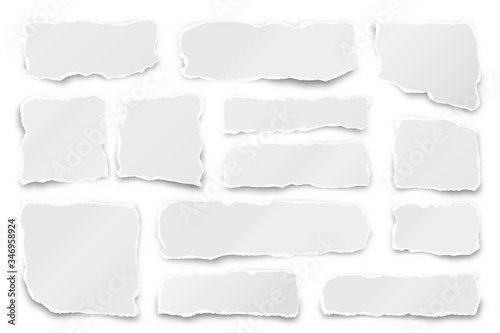 Ripped paper strips Fototapeta