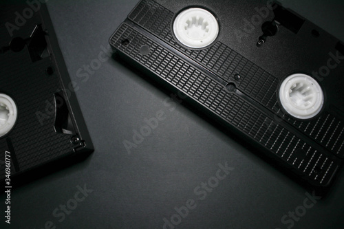 Fotografia, Obraz Old videotapes on a white background
