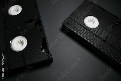 Fotografija Old videotapes on a white background