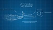 Space Shuttle Atlantis Blue Pr...