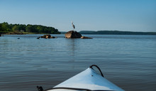 Kayaking A Large Lake With A G...