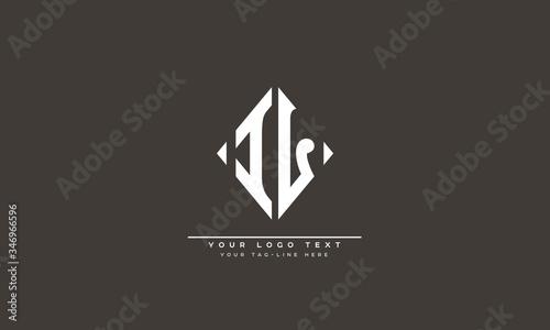IL ,LI ,I ,L  letter abstract logo monogram Canvas Print