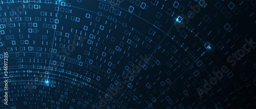 Fotografia Abstract tech background. Futuristic technology interface