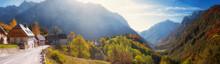 Slovenia, Panorama Of Village ...