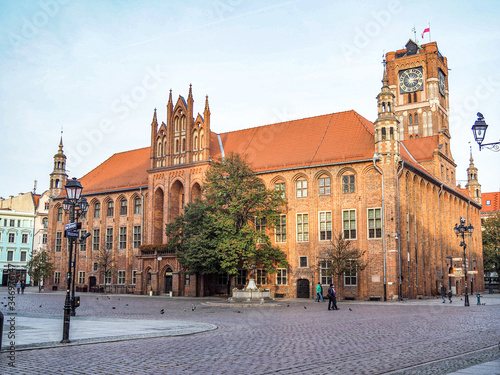 Torun City Hall, one of the most beautiful medieval buildings in Europe and UNESCO world heritage site.
