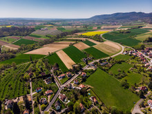 Top View Of Different Fields N...