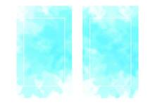 Blue Color Abstract Aqua Smudg...