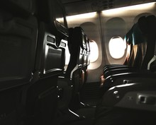 Empty Seats In The Airplane