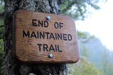 End Of The Maintained Trail On...