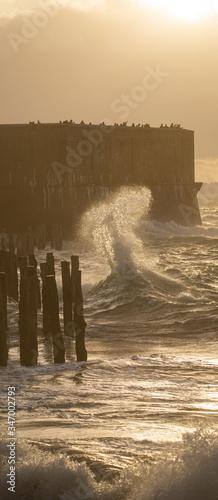 Fotografía Vague tempête Saint Malo Ille et Vilaine Bretagne France