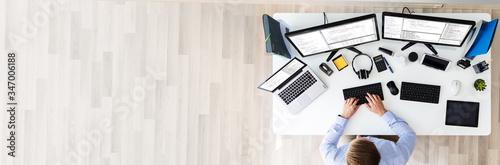 Obraz Software developer working in office - fototapety do salonu