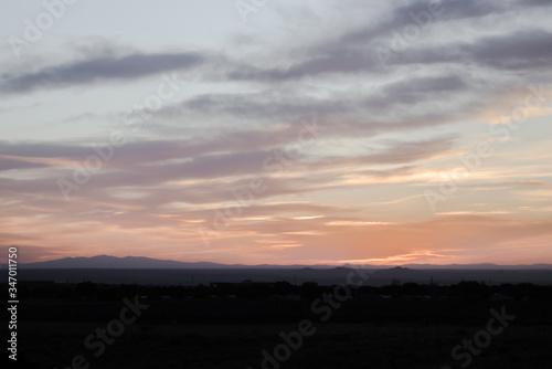 Sunset sky over Albuquerque, New Mexico. Canvas Print