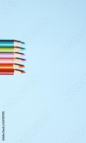 Valokuva colored pencils isolated on white
