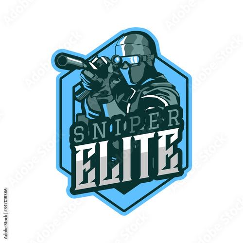фотография sniper elite army logo template