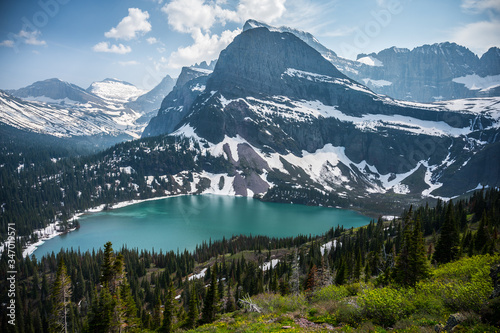 View of Grinnell Lake in Glacier National Park | Montana Tapéta, Fotótapéta
