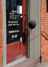 A Black Balloon Outside A Closed Business During The Covid-19 Outbreak