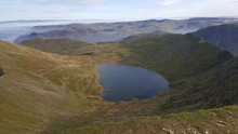 High Angle View Of Lake Amidst...