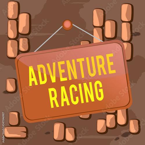 Photo Word writing text Adventure Racing