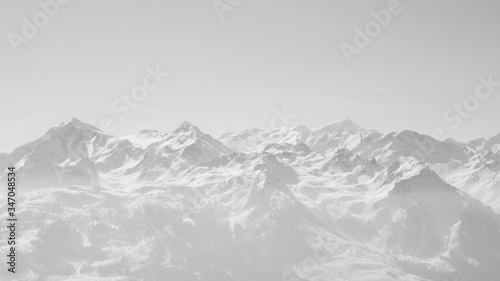 Fototapety, obrazy: Scenic View Of Snow Covered Mountains Against Cloudy Sky