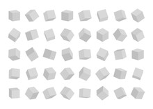 Set Of Cubes In Different Angl...