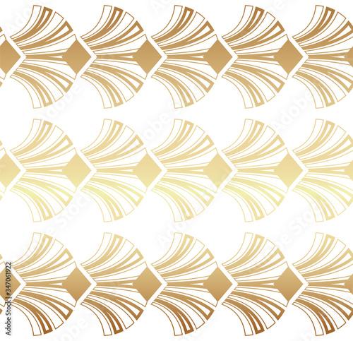 Light Gold Geometric Gatsby Art Deco Pattern Background