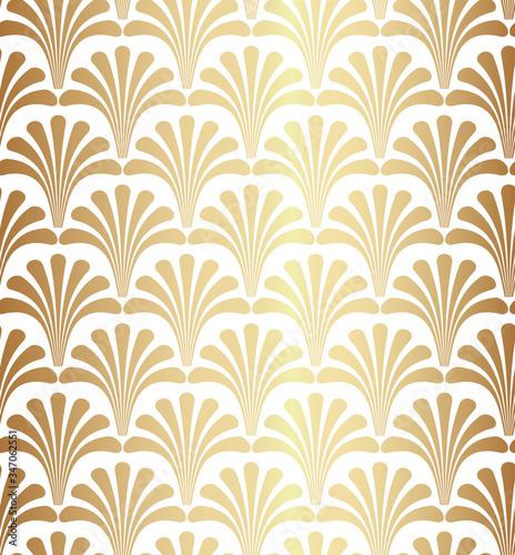 Gold Geometric Gatsby Art Deco Pattern