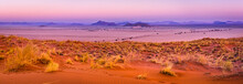 View Of Sesriem At Sunset From The Top Of The Elim Dune In Namibia.
