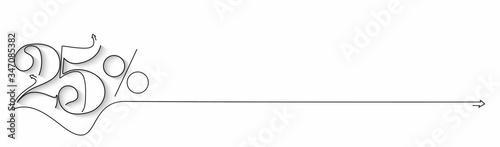 Fototapeta 25% OFF Sale Discount Banner. Discount offer price tag.  Vector Modern Sticker Illustration. obraz