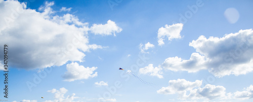 Valokuva Low Angle View Of Kite Flying Against Sky
