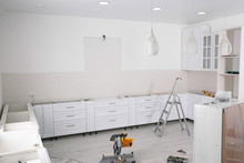 Stylish Kitchen Interior With ...