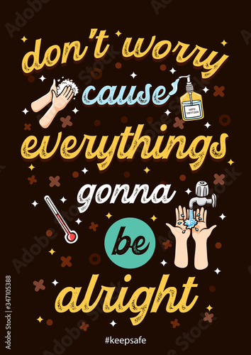 Fotografía inspirational quotes coronavirus dont worry everythings gonna be alright
