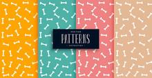 Bones Pattern In Four Colors S...
