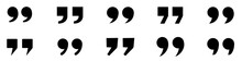 Quote Marks Icon Set. Quotes S...