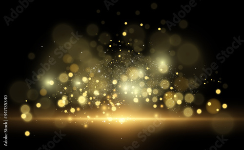 Fototapeta Beautiful sparks shine with special light. Vector sparkles on a transparent background. Christmas abstract pattern. A beautiful illustration for the postcard. The background for the image. Luminaries. obraz na płótnie