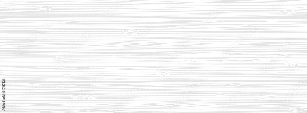 Fototapeta White wooden surface background, vector plank wood texture