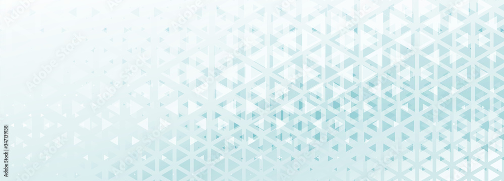 Fototapeta abstract triangle pattern banner with blue and white shade