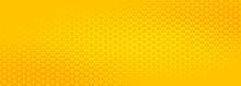 Bright Yellow Triangle Halfton...