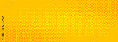 Fototapety żółte  bright-yellow-triangle-halftone-abstract-banner-design