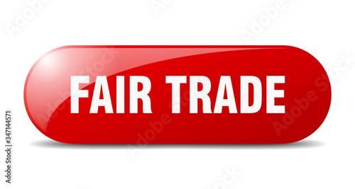 Valokuvatapetti fair trade button. fair trade sign. key. push button.